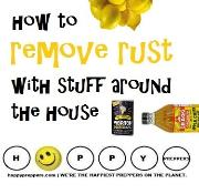 How to remove rust with stuff around the house