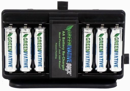 Saltwater battery charger