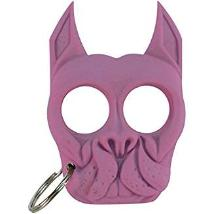 Bull dog self defense keychain