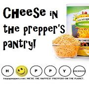 Shelf-stable cheese in the prepper's pantry