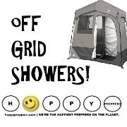Off grid showers