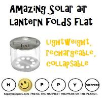 Amazing Solar Air lantern folds flat, recharges too!