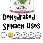 Dehydrated spinach uses