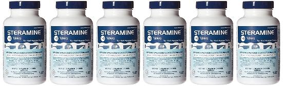 One bottle of Steramine makes 150 gallons of sanitizing solution