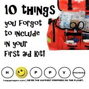 Ten things you forgot to include in your first aid kit