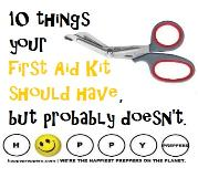 Ten things your first aid kit should have, but probably doesn't