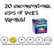 20 unconventional uses of Vick's Vaporub