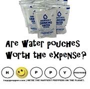Are water pouches worth the expense?