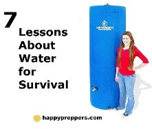 7 Lessons about water for survival