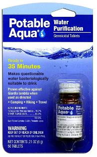 Potable Aqua Water purification