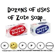 Dozens of uses of zote soap